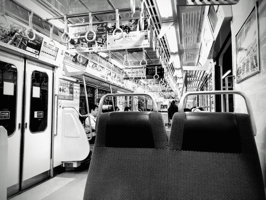 電車内の写真