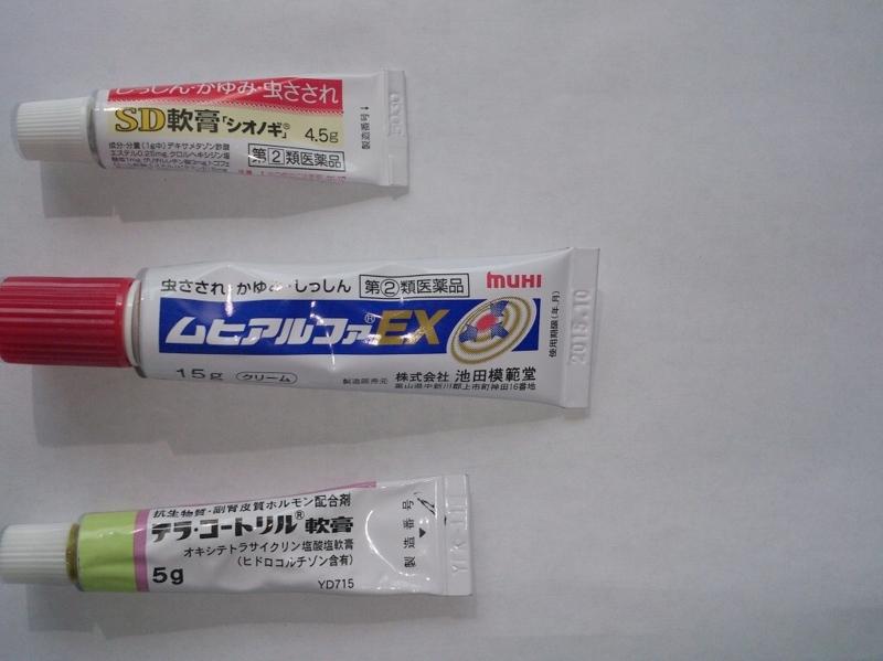 2013,6,9 ブヨに刺されたら・・・・ 各種の薬を身を以て比較 , y.yujiの備忘録