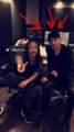 Recording something new in the studio with Steve Aoki  2-17-2016