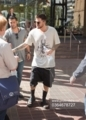 Adam is all smiles as he steps out in Adelaide before taking the stage with Queen(2018-02-28)