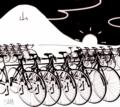 2期感想。湖面駐輪(浮遊?)。自転車トレスしたけどかなり難しい