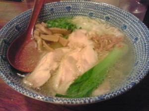 麺屋我風@船橋の塩ラーメン(清湯スープ)