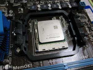 AMDのPhenomII X4 945が乗っかったところ