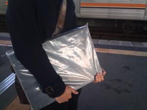 L2スイッチを電車で持ち運ぶの図