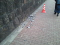 [地震]都内某所(どこだっけ…)で壁が崩れてた
