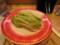 大阪の回転寿司店で見つけた、白菜の漬け物寿司