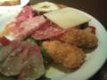 [市川][パスタ][イタリアン]PASTA 303 NEROの前菜盛り合わせ