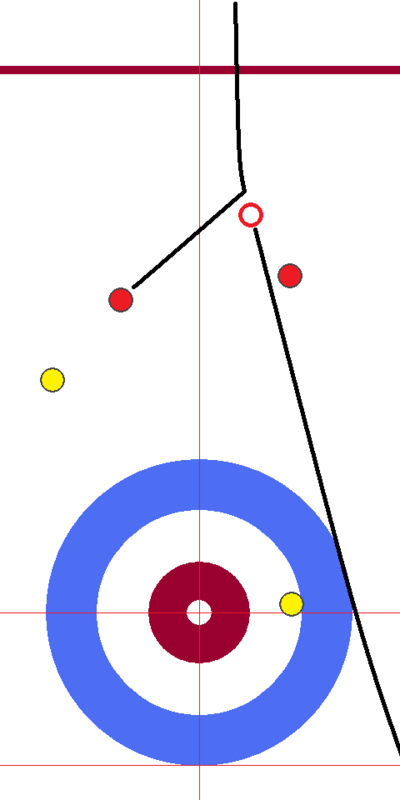 日本-スコットランド 後攻サード1投目