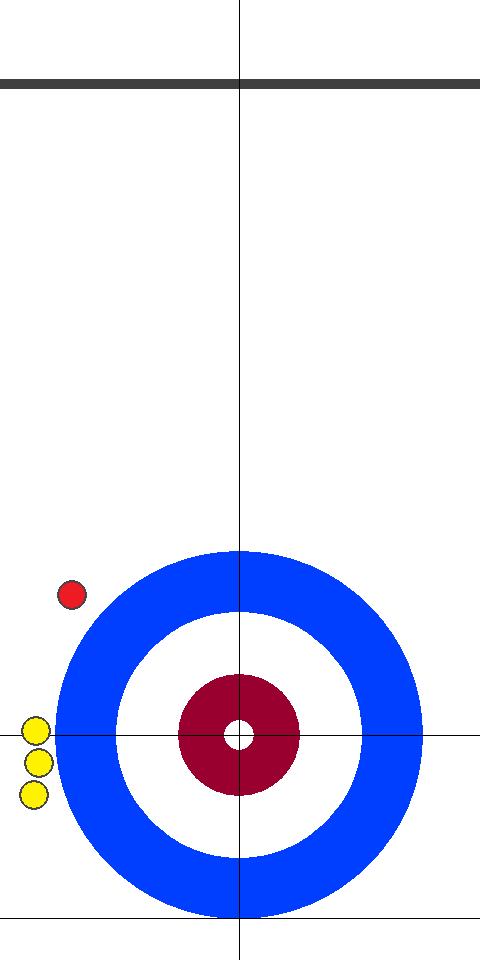 日本(赤)1 - 2(黄)イタリア 3エンド 後攻(赤)スキップ2投目前