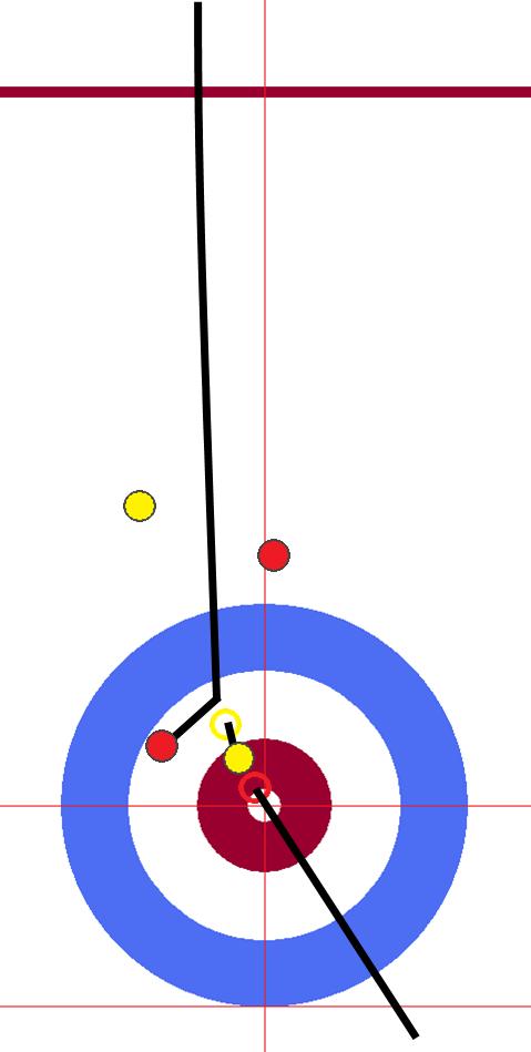 男子決勝 中国-韓国 06エンド 赤・先攻中国 セカンド2投目