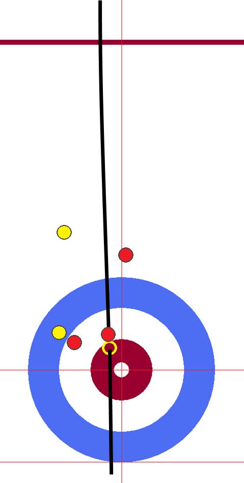 男子決勝 中国-韓国 06エンド 赤・先攻中国 サード1投目