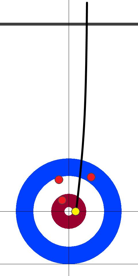 カナダ(赤)-日本(黄) 2エンド 後攻日本フォース青木2投目