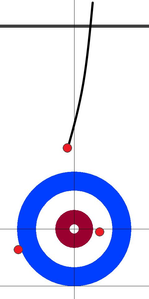 日本(赤)-スウェーデン(黄) 4エンド 後攻日本サード岩井1投目