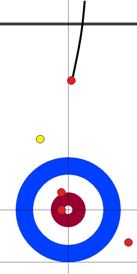 日本(赤)-スウェーデン(黄) 6エンド 後攻日本フォース青木1投目
