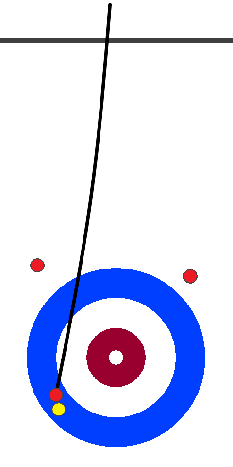 日本(赤)-アメリカ(黄) 5エンド 後攻日本スキップ小穴1投目
