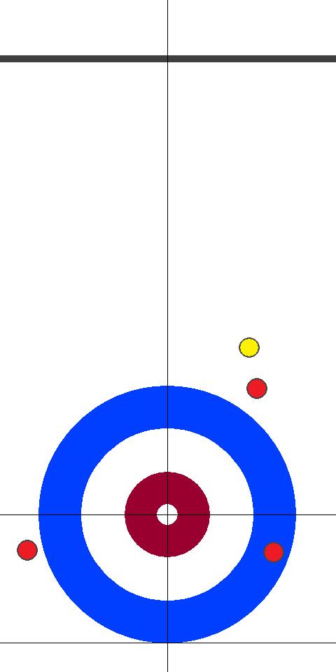 日本(赤)-イタリア(黄) 9エンド 後攻日本スキップ小穴1投目前