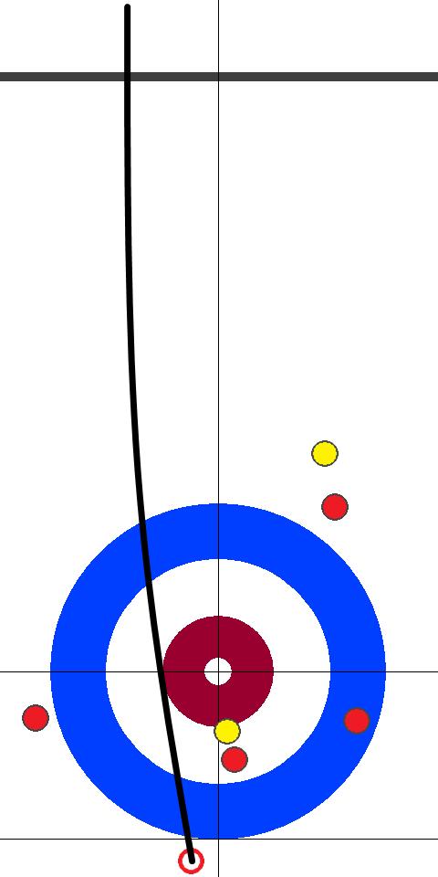 日本(赤)-イタリア(黄) 9エンド 後攻日本スキップ小穴2投目