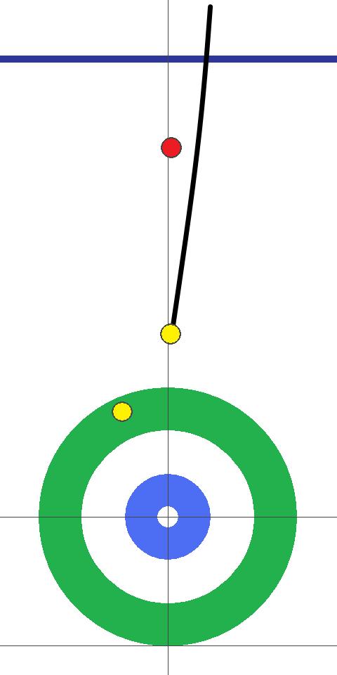 シュスター(赤)-コンサドーレ(黄) 6エンド 先攻コンサドーレセカンド谷田1投目