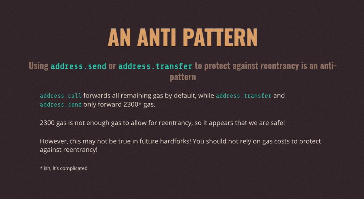 an anti pattern of re-entrancy