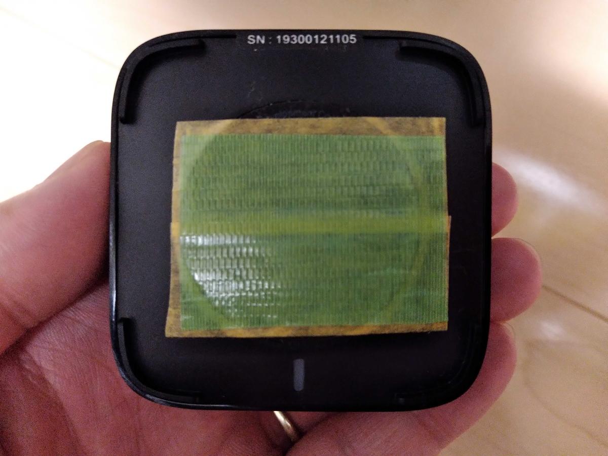 Bluetoothトランスミッター/レシーバーを柱に接着するための下地作り - 1