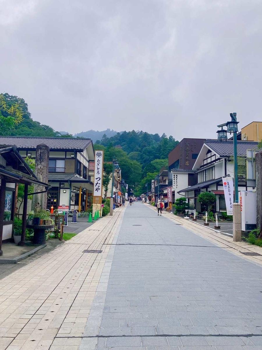 高尾山入口の風景
