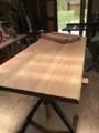 ノックダウン式八溝杉テーブル。