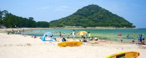 萩市・菊ヶ浜海水浴場