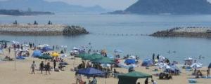 松山市・長浜海水浴場(道の駅風和里前海岸)