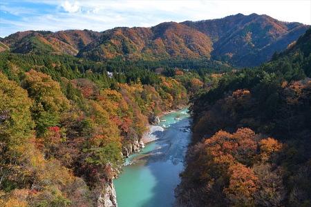 紅葉の龍王峡