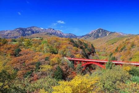 紅葉の八ヶ岳高原ライン東沢大橋