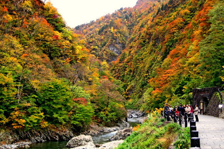 紅葉の清津峡