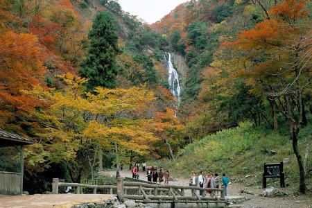 紅葉の神庭の滝