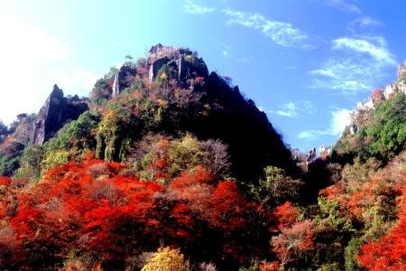紅葉の耶馬渓 一目八景