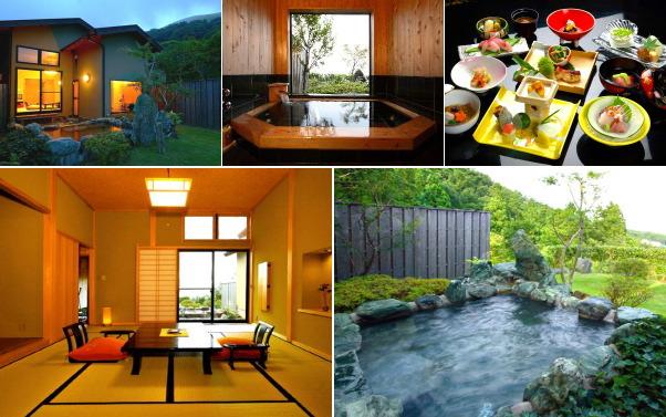 静岡県・伊豆高原温泉 はなれ宿 善積(露天風呂付き客室)