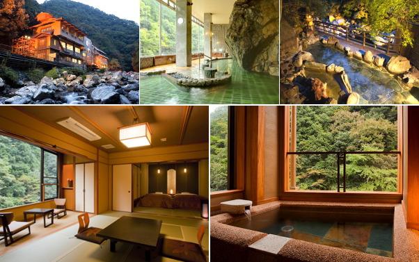 摂津峡・花の里温泉 山水館(露天風呂付き客室)