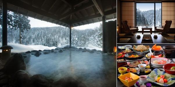 銀山温泉 瀧と蕎麦の宿 瀧見舘(雪見露天風呂)