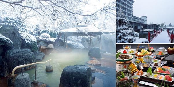 秋保温泉 篝火の湯 緑水亭(雪見露天風呂)