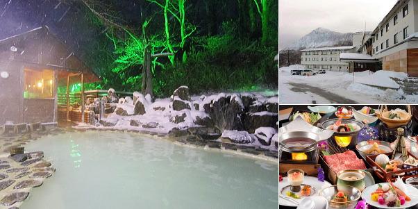 野地温泉ホテル(雪見露天風呂)