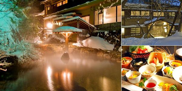 奥那須温泉 大丸温泉旅館(雪見露天風呂)