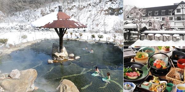 穂高荘山のホテル(雪見露天風呂)