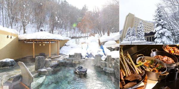 定山渓鶴雅リゾートスパ 森の謌(雪見露天風呂)