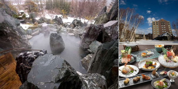 北天の丘 あばしり湖鶴雅リゾート(雪見露天風呂)