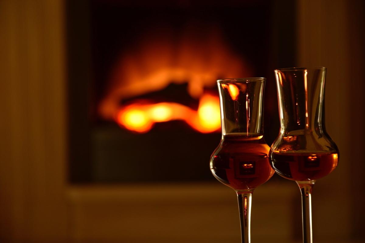 ウイスキー 暖炉