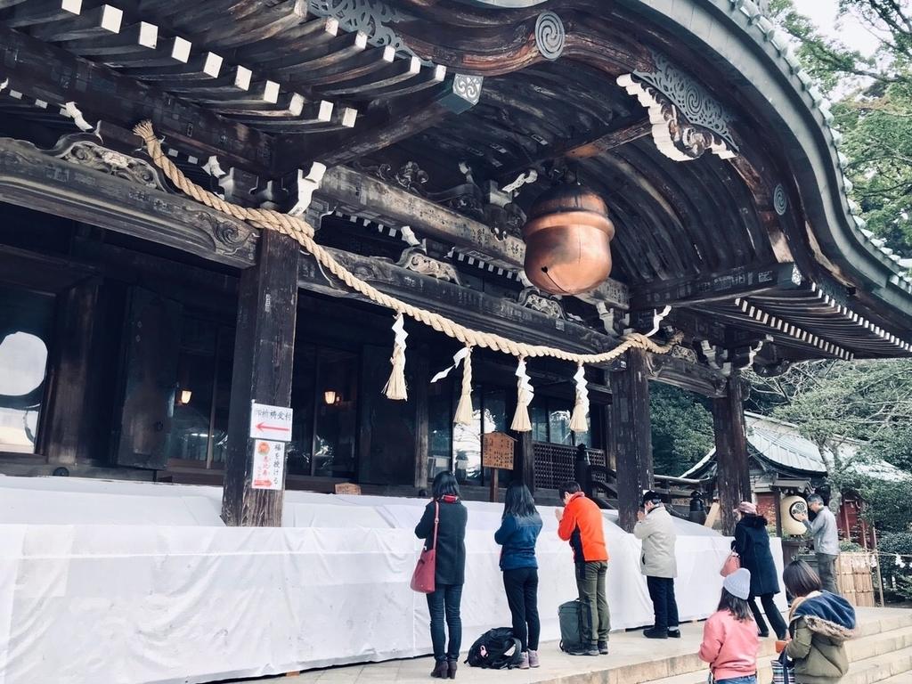 筑波山神社で初詣