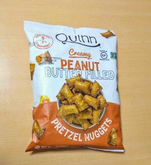 Quinn Popcorn, プレッツェルナゲット、クリーミーピーナッツバター入り