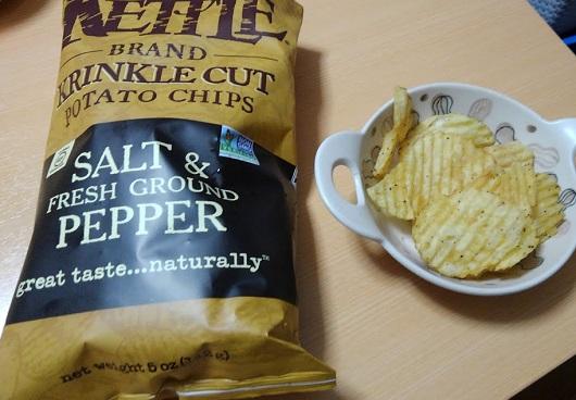 Kettle Foods ポテトチップス ソルト&フレッシュグラウンドペッパー