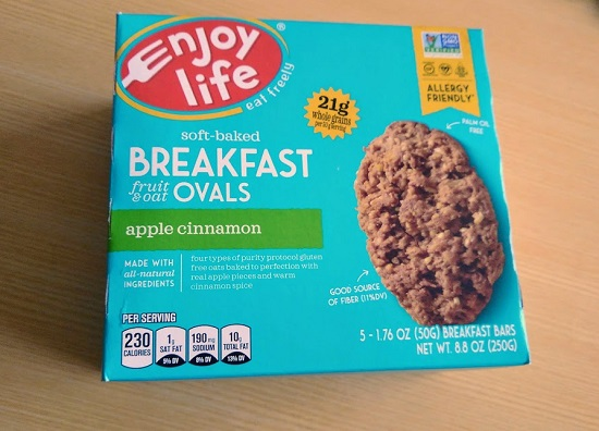 Enjoy Life Foods, ソフトベイク朝ごはんフルーツ&オート麦、アップルシナモン