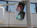 狭い交差点の小糸デザイン歩灯1