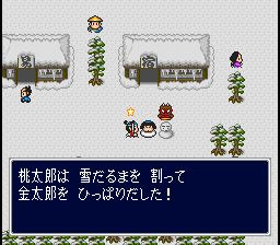 雪だるま姿の金太郎