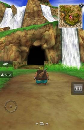 滝の洞窟入口